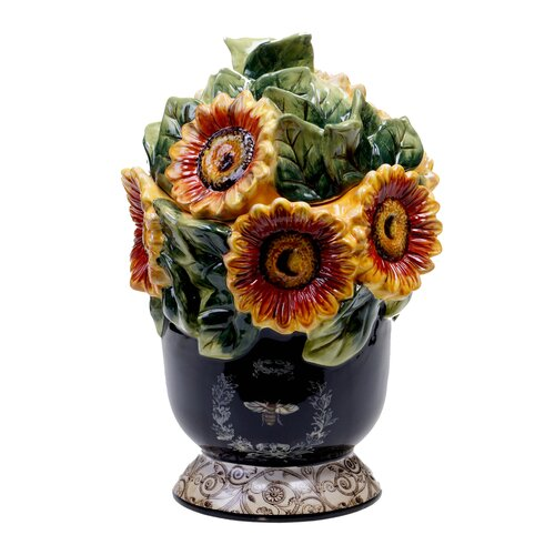 French Sunflowers 3-D Cookie Jar