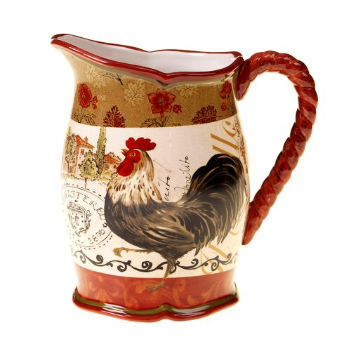 Tuscan Rooster 3 Qt. Pitcher