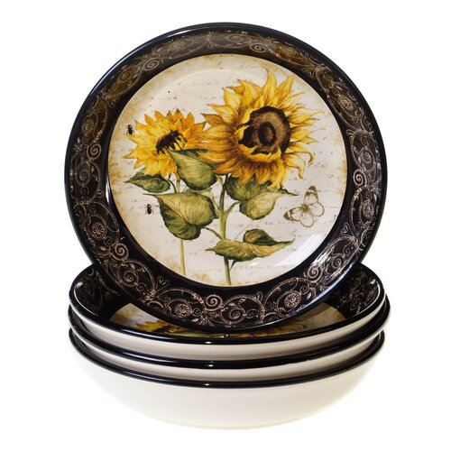 "Certified International French Sunflowers 9.25"" Soup / Pasta Bowl"