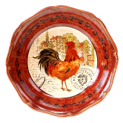 "Certified International Tuscan Rooster 12.75"" Pasta Serving Bowl"
