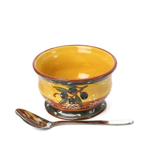Certified International French Olives Ice Cream Bowl