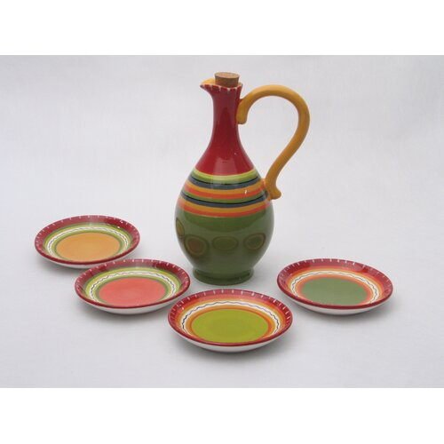 Certified International Hot Tamale 5 Piece Olive Oil Dipping Set