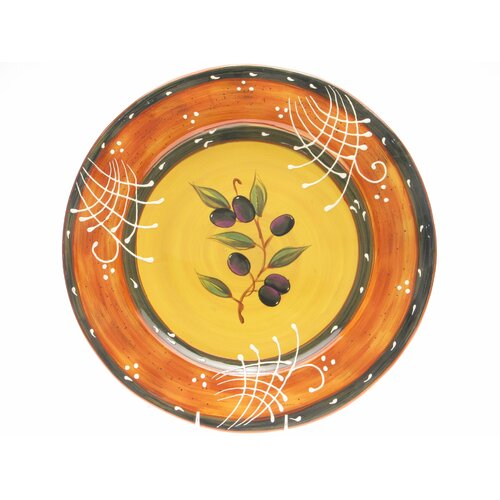 "Certified International French Olives 16"" Round Platter"