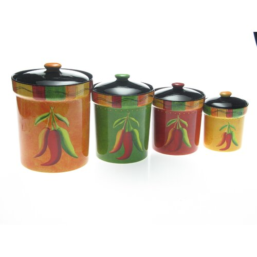 Certified International Caliente Canister (Set of 4)