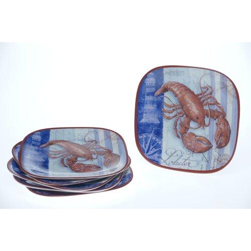 """Certified International Lobster by Geoff Allen 8.5"""" Plate"""