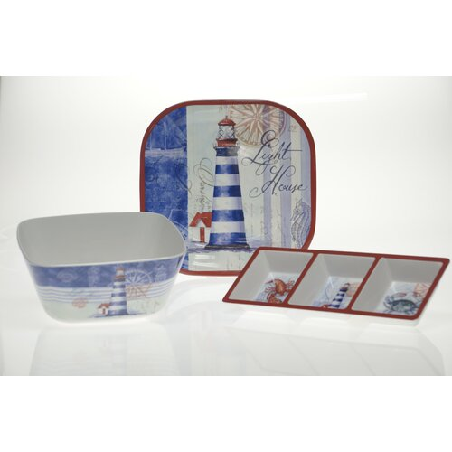 Certified International Lighthouse 3-Piece Serving Set