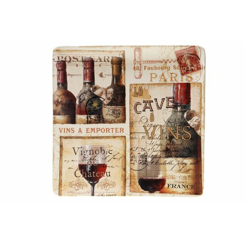 "Certified International French Cellar 14.5"" Square Platter"