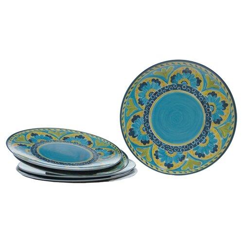 "Certified International Mexican Tile 12"" Dinner Plate"