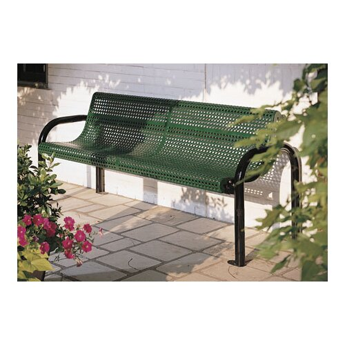 Eagle One Perforated Contour Metal Garden Bench