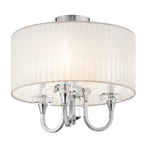 Kichler Parker Point Convertible 3 Light Semi Flush Mount