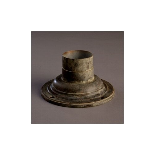Kichler Outdoor Pier Mount in Tannery Bronze with Gold Accents