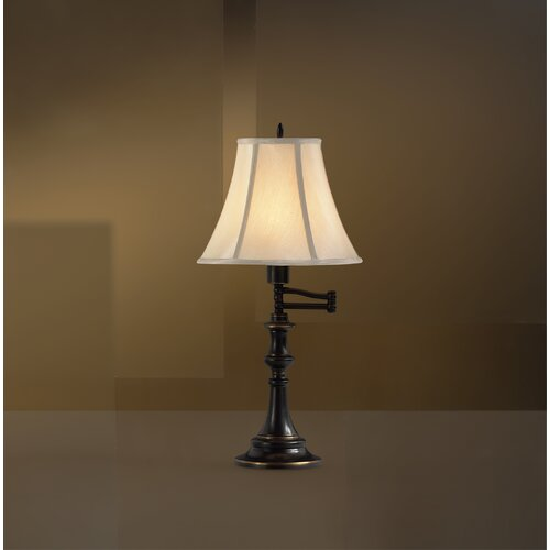 """Kichler Westwood @ Work Swing Arm 24.75"""" H Table Lamp with Bell Shade"""