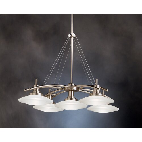 Kichler Structures 5 Light Chandelier in Brushed Nickel