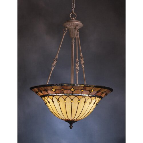 Classic 3 Light Inverted Pendant