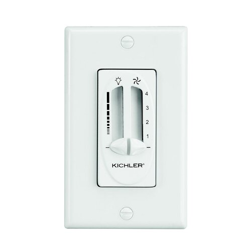 Kichler Fan Light Dual Slider Control in Almond
