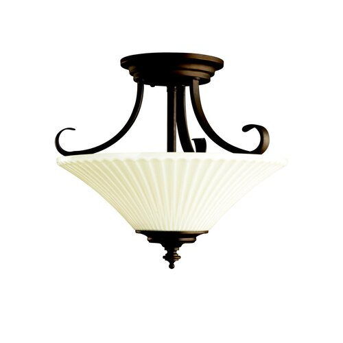 Kichler Abbeyville 3 Light Semi Flush Mount
