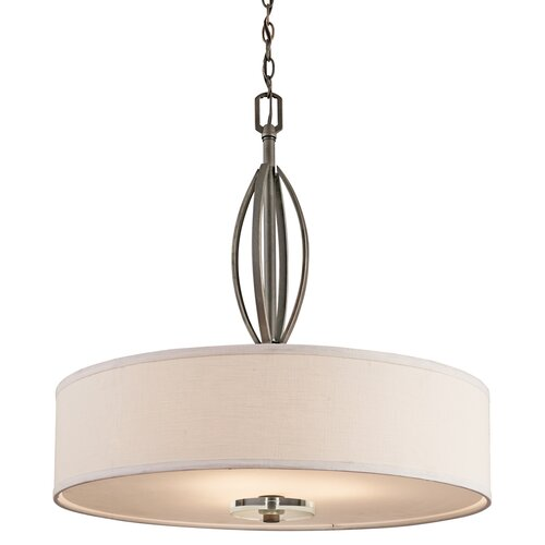Kichler Leighton 3 Light Inverted Drum Pendant