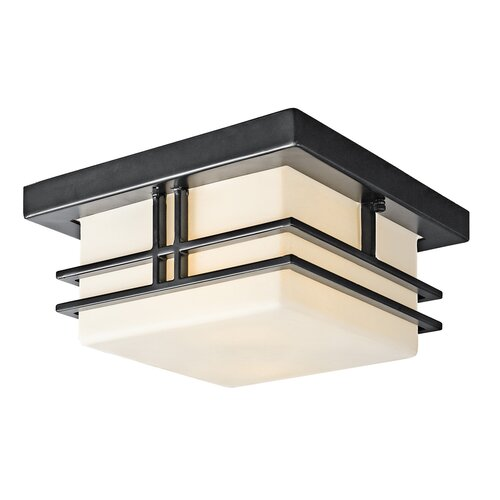 kichler tremillo 2 light outdoor flush mount reviews wayfair. Black Bedroom Furniture Sets. Home Design Ideas