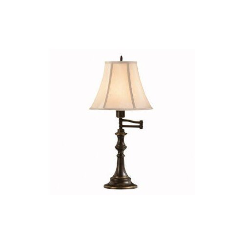 "Kichler Westwood Clayton Swing Arm 23.5"" H Table Lamp with Bell Shade"