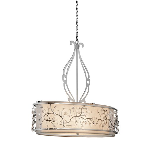 Jardine 4 Light Oval Drum Pendant