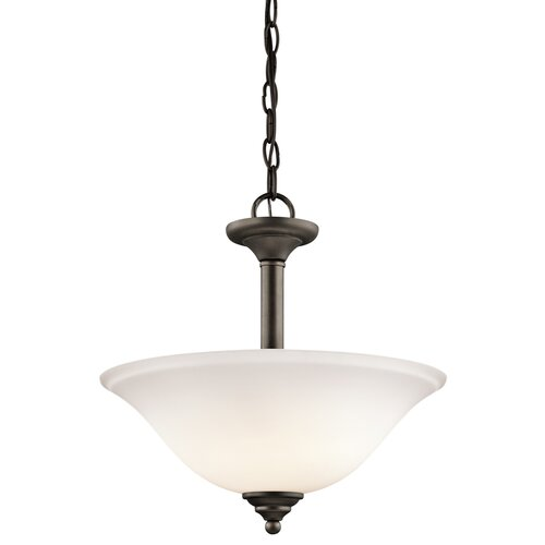 Brushed 2 Light Semi Flush/Inverted Pendant