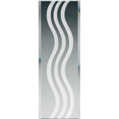 Stocked Glass Panel Curved Lines