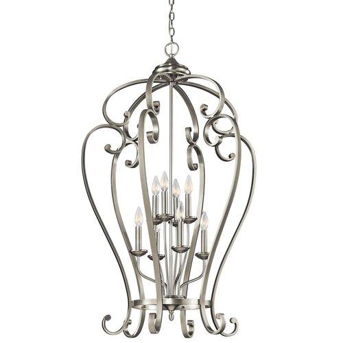 Foyer Caged Chandelier : Kichler monroe light foyer cage chandelier reviews