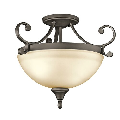 Kichler Monroe 2 Light Semi Flush Mount