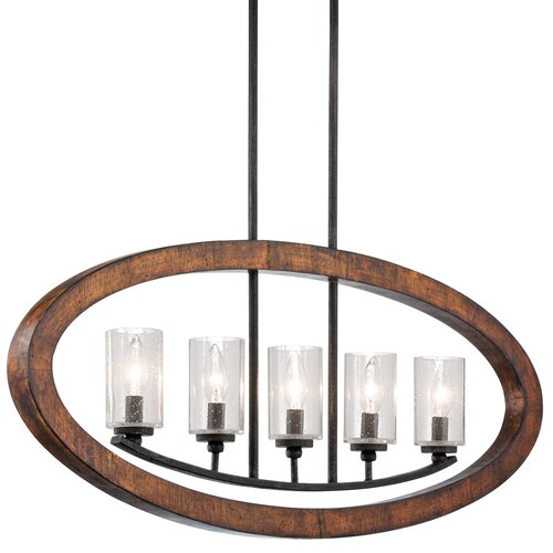 Kichler Grand Bank 5 Light Linear Chandelier