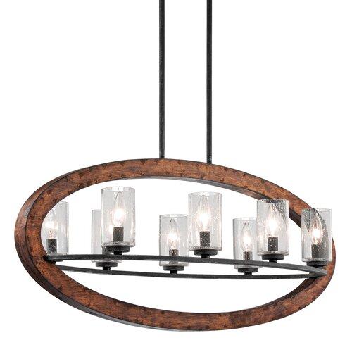 Kichler Grand Bank 8 Light Linear Chandelier & Reviews