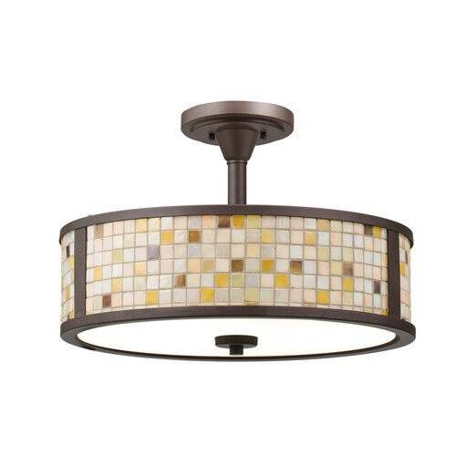 Kichler Blythe 3 Light Semi Flush Drum Pendant