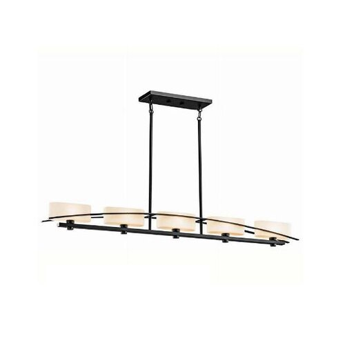 Suspension 5 Light Linear Chandelier