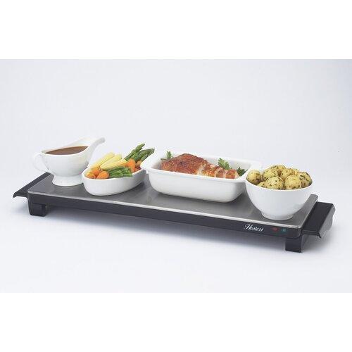 Hostess Aficionado Cordless Hot Tray in Brushed Steel