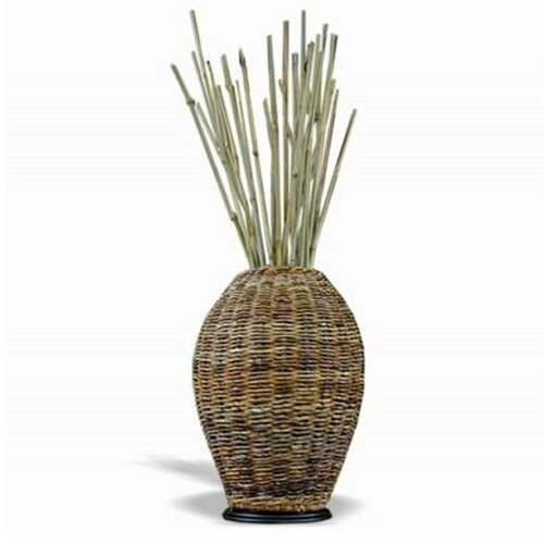 Jeffan Abaca Small Vase with Decorative Sticks