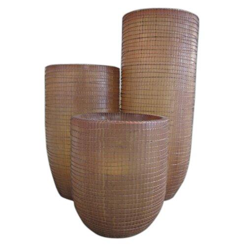 Jeffan Palm Fiber Standing Weaving Motive (Set of 3)