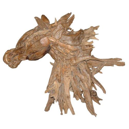 Natura Horse Head Statue