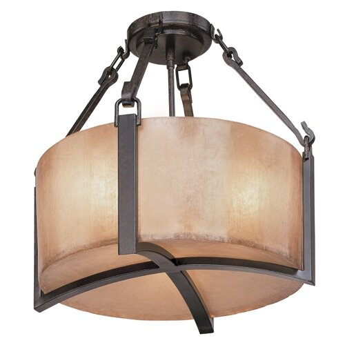 Troy Lighting Austin 3 Light Semi Flush Mount