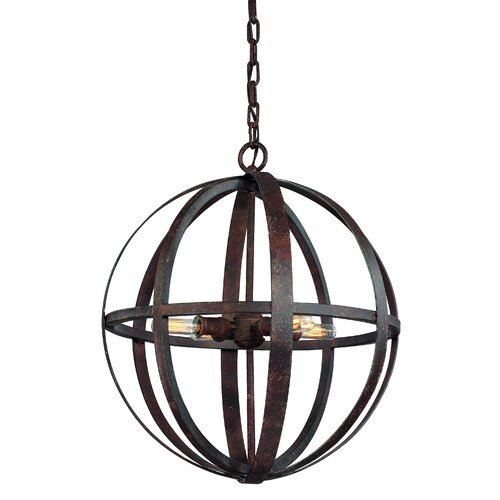 Troy Lighting Flatiron 4 Light Medium Foyer Pendant