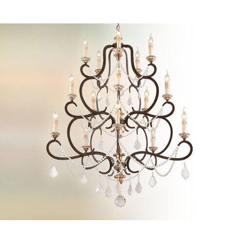 Troy Lighting Bordeaux 15 Light Crystal Chandelier