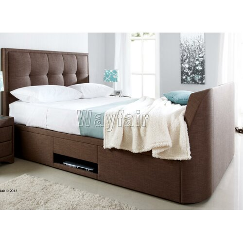 Wayfair Leather Sleigh Bed 500 x 500