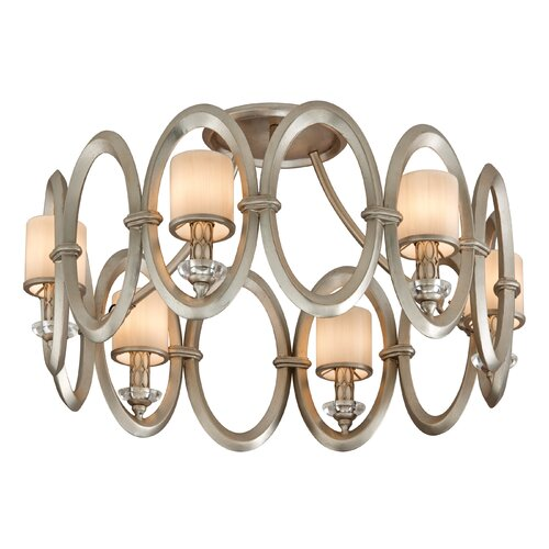 Corbett Lighting Embrace 6 Light Semi Flush Mount