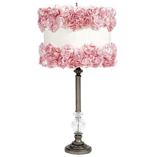 Jubilee Collection Ring of Roses Glass Ball Lamp