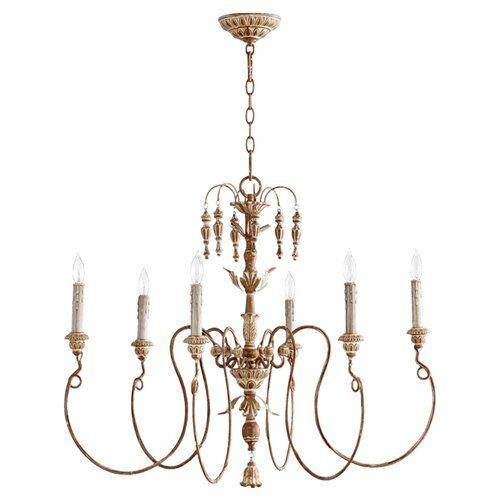 Current Obsession Lantern Chandeliers: Quorum Salento 6 Light Transitional Chandelier & Reviews