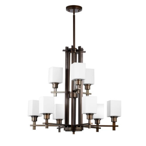 Quorum Tate 9 Light Chandelier
