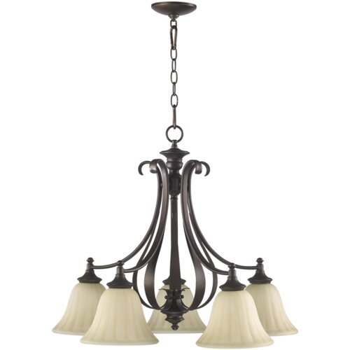 Quorum Randolph 5 Light Nook Chandelier