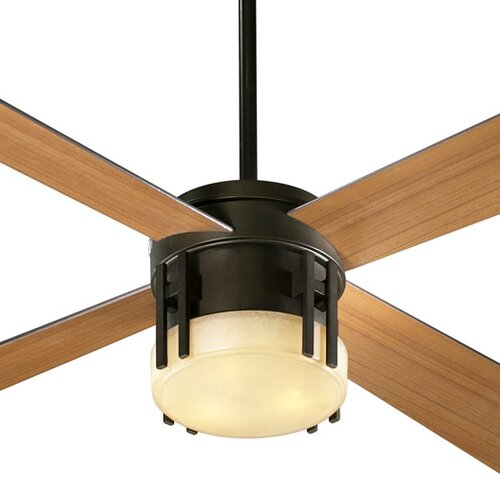 Quorum Alton Three Light Ceiling Fan Light Kit in Toasted Sienna