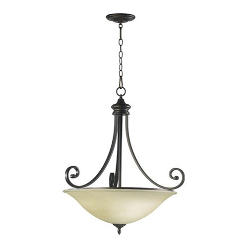 Quorum Bryant 4 Light Inverted Pendant