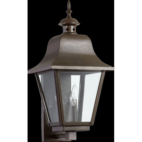 Quorum Bishop 3 Light Outdoor Wall Lantern