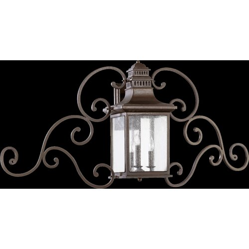 Quorum Magnolia 3 Light Outdoor Wall Lantern