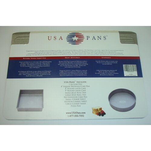 "USA Pans 10"" x 14"" Cookie Sheet with Americoat"